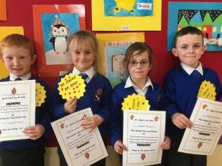 March Assembly Winners- Senior Infants