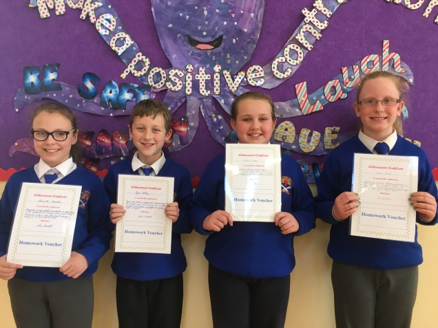 March Assembly Winners-4th Class