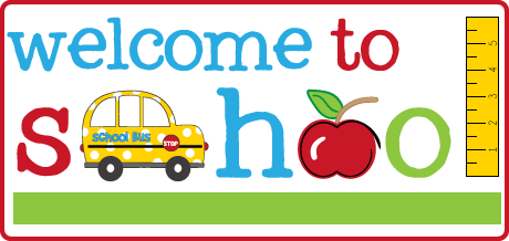 Image result for welcome to school clip art
