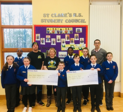 Fundraising by St. Clare's N.S.