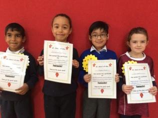 Senior Infants October Assembly winners