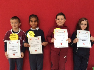 2nd Class October Assembly winners