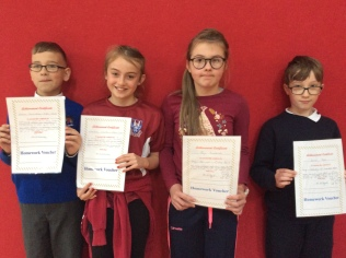 5th Class October Assembly winners