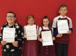 6th Class October Assembly winners