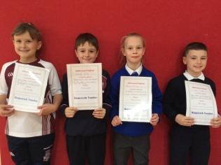 3rd Class October Assembly winners