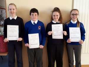 6th Class November Assembly Winners