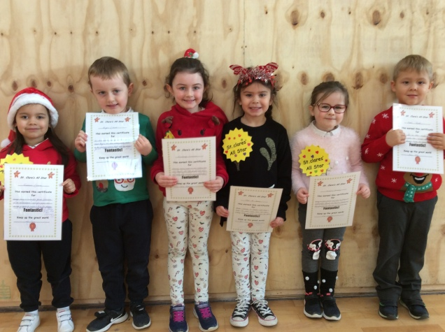 Assembly Winners December Junior Infants