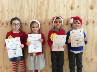 Assembly Winners December Senior Infants
