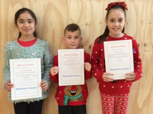 Assembly Winners December 3rd class