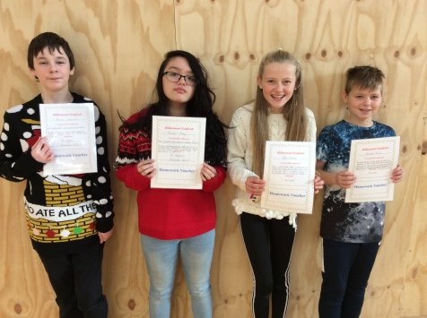 Assembly Winners December 6th Class