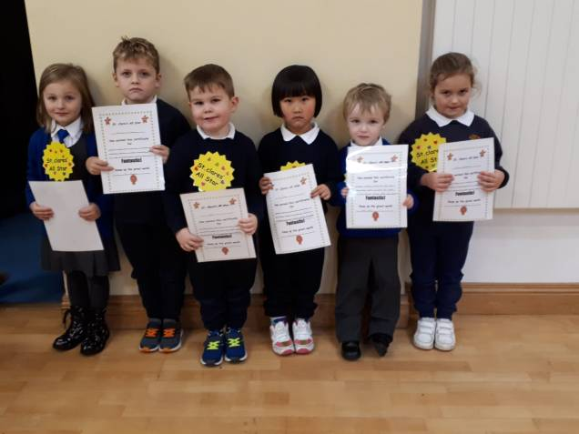 Junior Infants November Assembly Winners