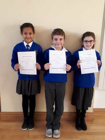 3rd Class November Assembly Winners
