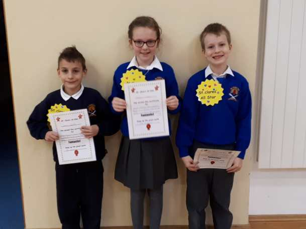 2nd Class November Assembly Winners