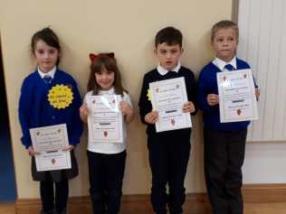 Senior Infants November Assembly Winners