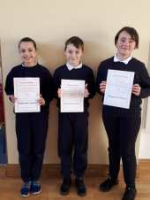 5th Class November Assembly Winners