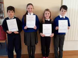 4th Class November Assembly Winners