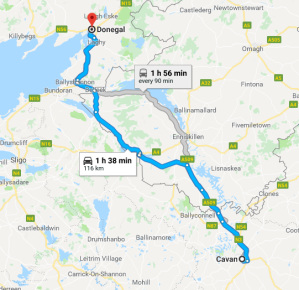 cavan to donegal 116km