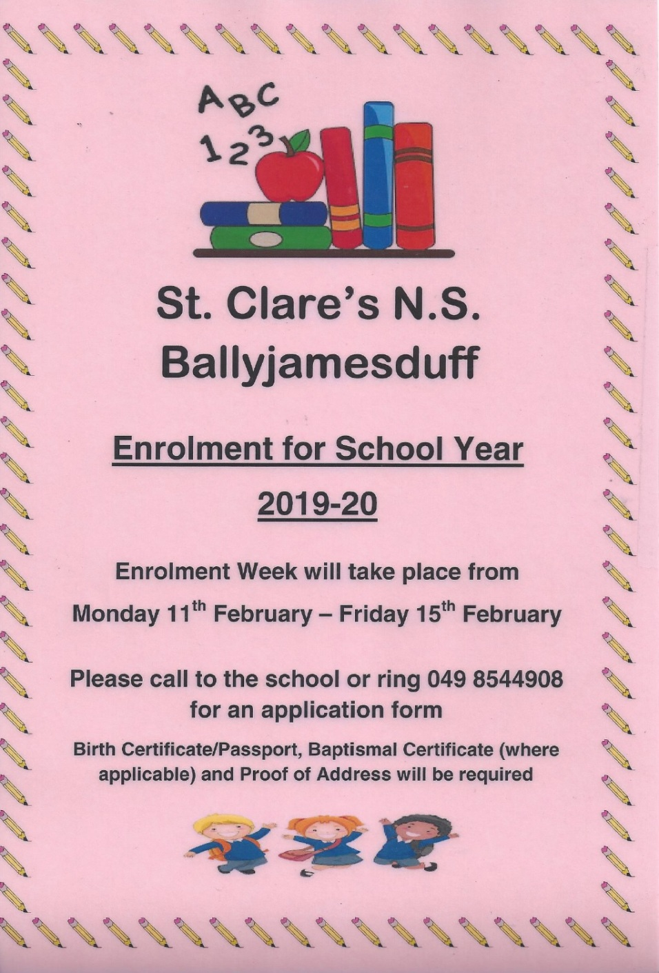 enrolment sheet