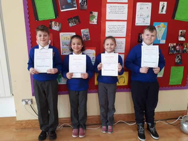 February Assembly Winners-4th class
