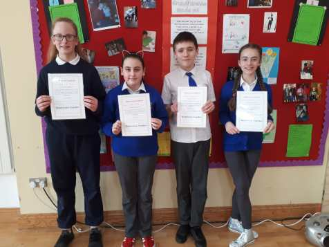 February Assembly Winners-6th Class