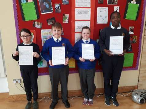 February Assembly Winners-5th Class