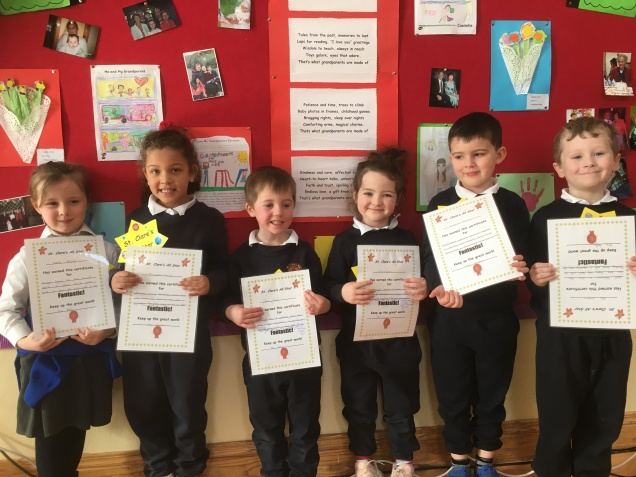 February Assembly Winners-Junior Infants