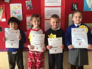February Assembly Winners Senior Infants