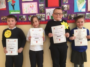 February Assembly Winners 2nd class
