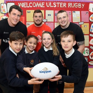 Ulster Rugby Stars Train with St. Clare's!