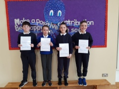 March Assembly Winners-5th Class