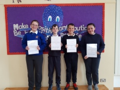 March Assembly Winners-6th Class