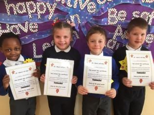 March Assembly Winners Senior Infants