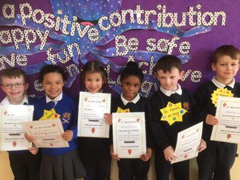 March Assembly Winners-Junior Infants