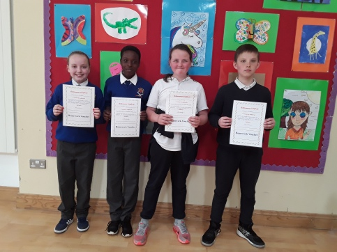 May Assembly winners 4th Class