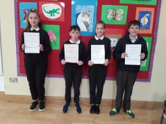 May Assembly Winners 6th Class
