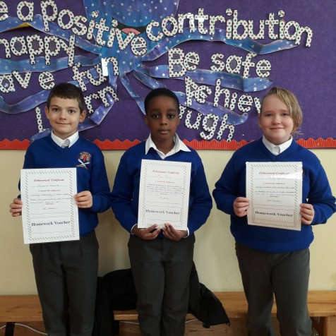 October Assembly Winners